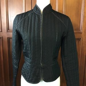 Carole Little Jacket, black quilted Size S fitted